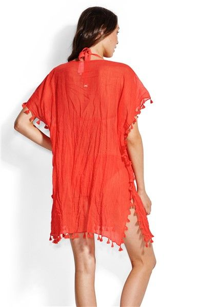 Seafolly Amnesia Kaftan - Well Red